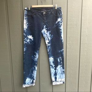 Shank High Waisted Bleach Tie Dyed Jeans Size 34